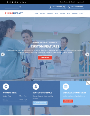 Physiotherapy - Physical Therapy WordPress Theme ...