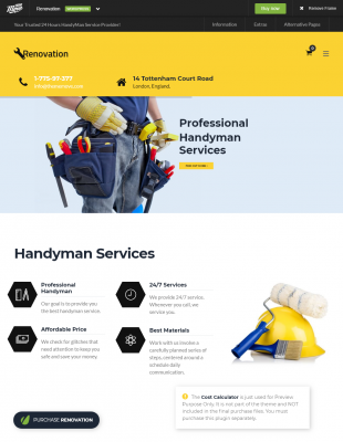 58 wordpress themes f r handwerker themingproject - Was verdient ein fliesenleger ...