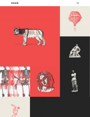 Haar A Portfolio Theme For Designers Artists And Illustrators