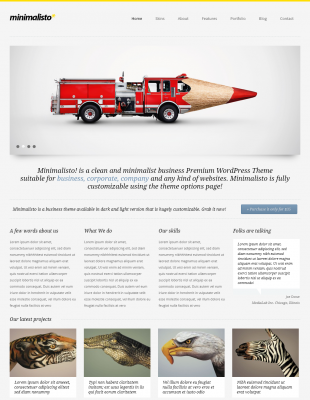 minimalisto wordpress theme